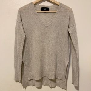 LINE 100% cashmere V neck sweater- xs EUC